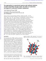 Ion aggregation in concentrated aqueous and methanol solutions of polyoxometallates Keggin anions: the effect of counterions investigated by molecular dynamics simulations