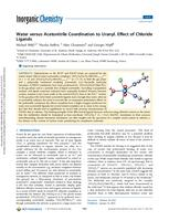 Water versus Acetonitrile Coordination to Uranyl. Effect of Chloride Ligands
