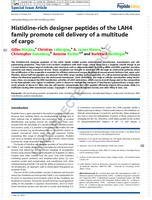 Histidine-rich designer peptides of the LAH4 family promote cell delivery of a multitude of cargo